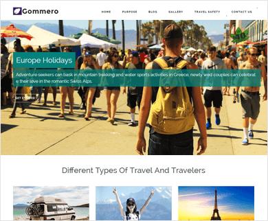 Gommero - Travel Business WordPress Theme