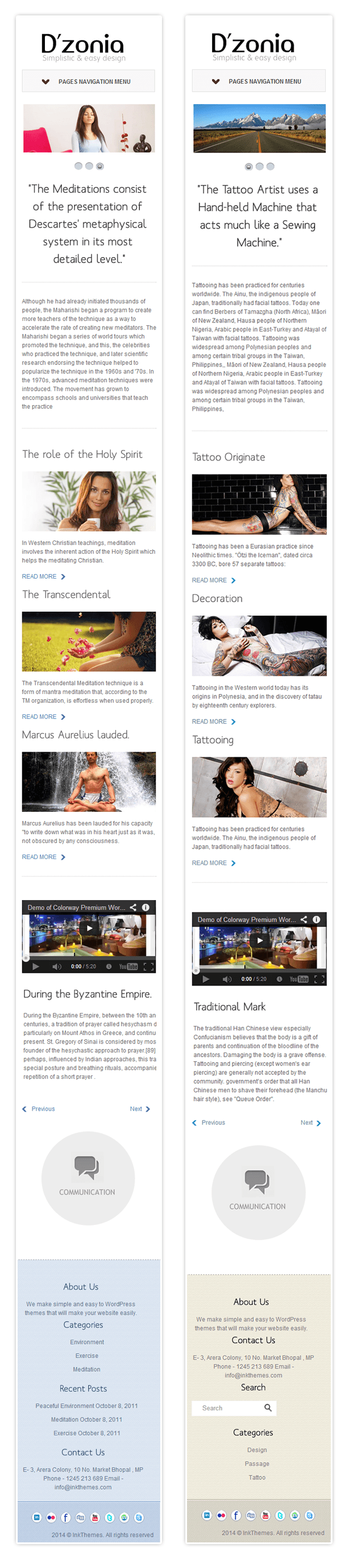 wordpress theme for mobile devices