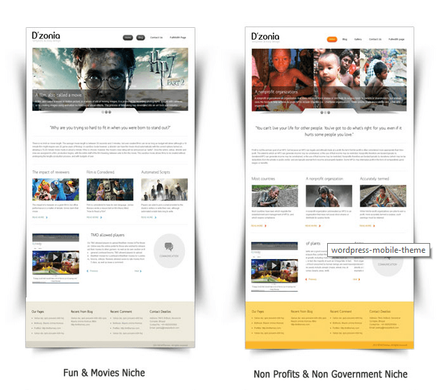 Dzonia wordpress mobile phone theme