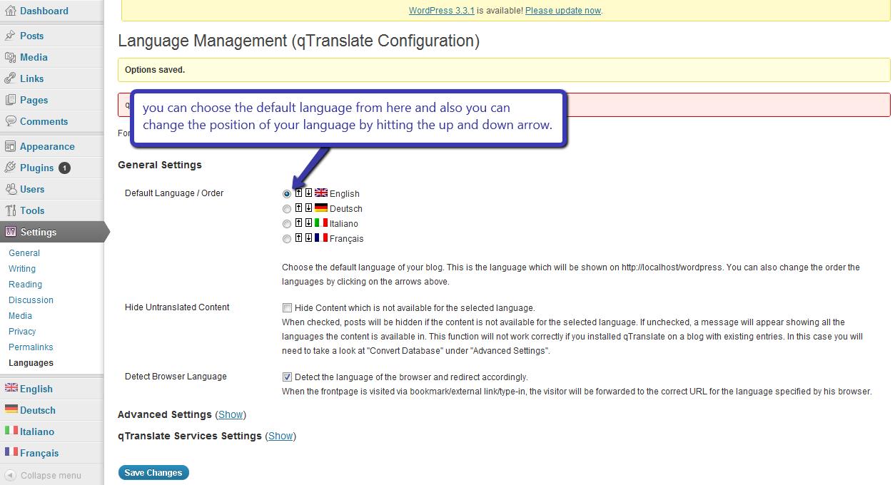 q-translate configuration