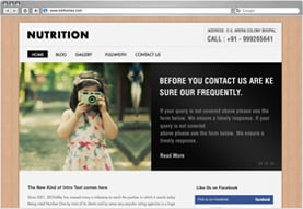 Nutrition Premium Wordpress Theme