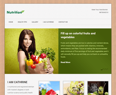 Nutrition - Health and Fitness WordPress  Theme