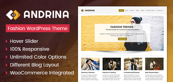 Andrina - Fashion Oriented WordPress Theme | InkThemes