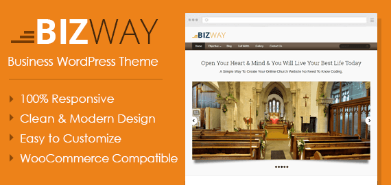 BizWay – Simple Responsive Featured WordPress Theme