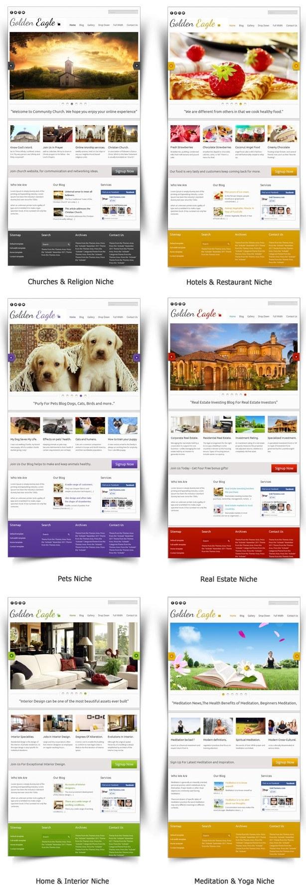 responsive church wordpress theme