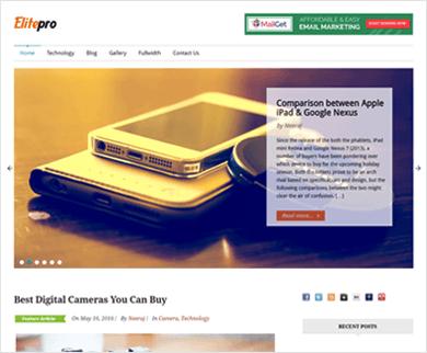 Elite Pro - Clean, Flat Design Rich WordPress Theme