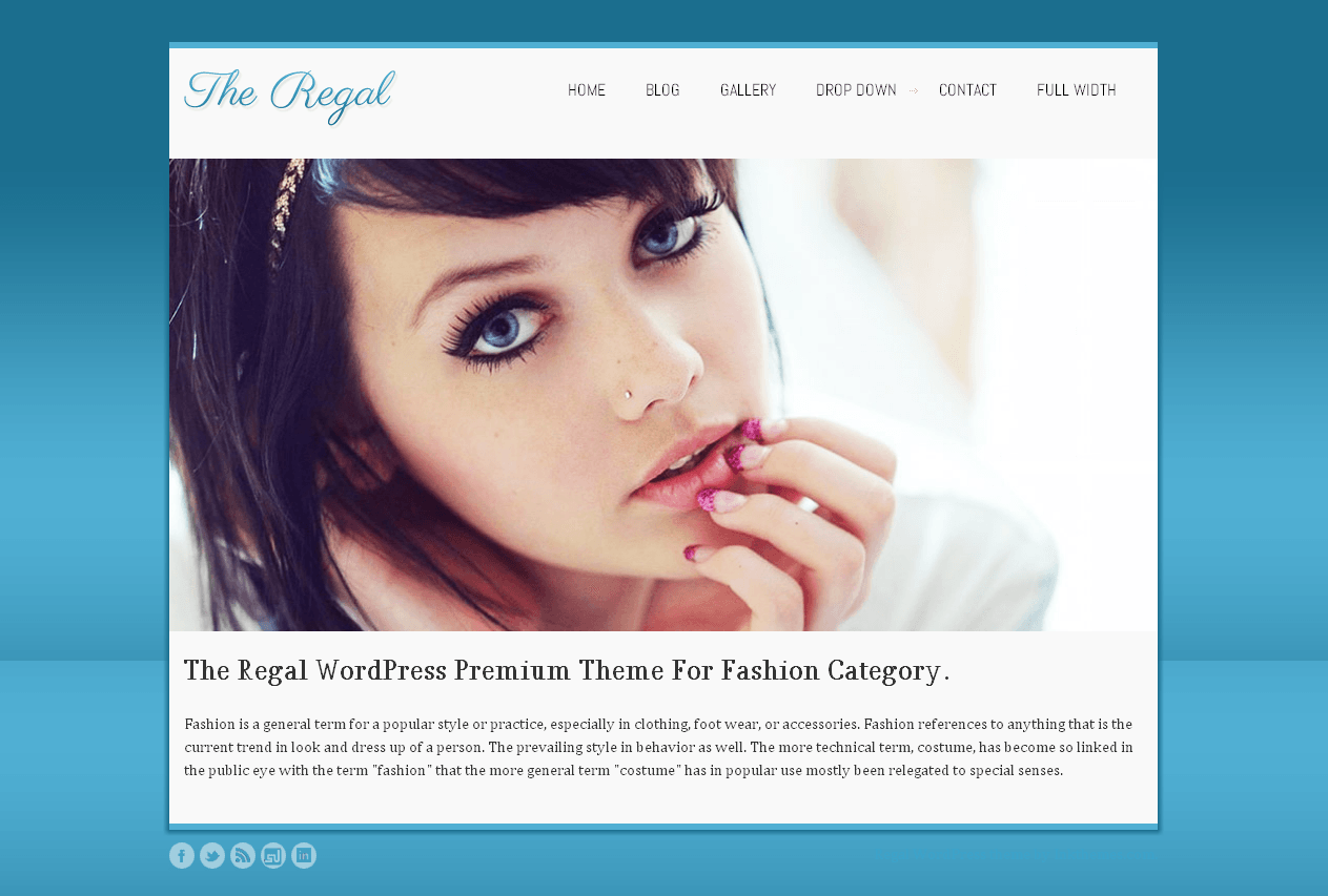 regal - fashion photography WordPress theme