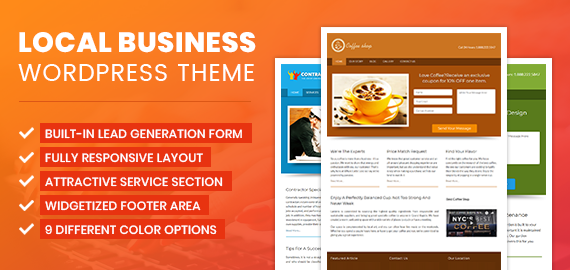 Local Business WordPress Theme With Built in Lead Capture | InkThemes
