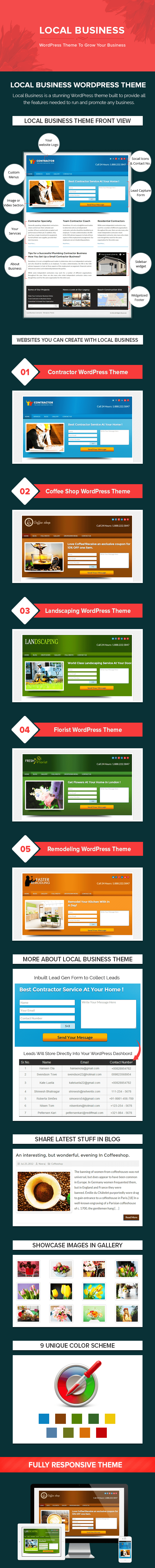 business wordpress theme with lead capture form
