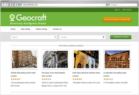 GeoCraft Directory Listing WordPress Theme
