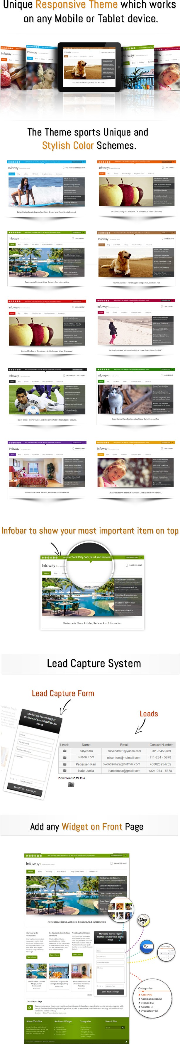 InfoWay features