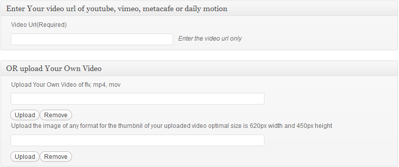 upload your own video