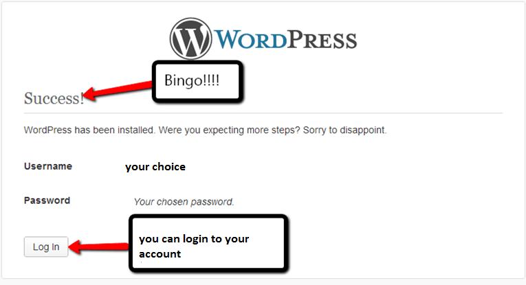 WordPress is installed