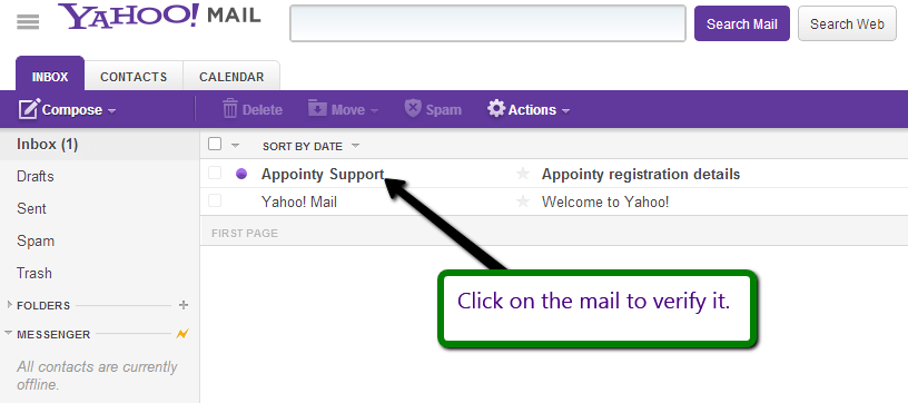 Email verification for Appointy