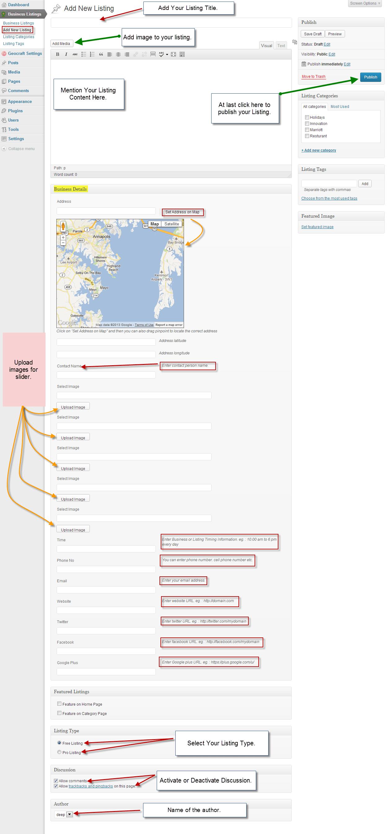Adding Listing customization