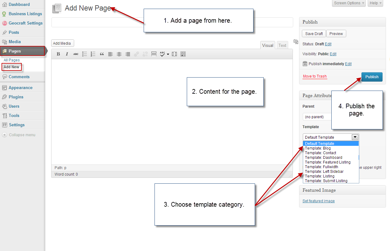 Adding Pages and customize