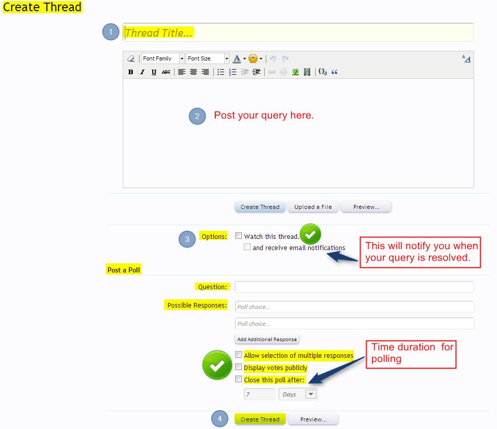 posting queries