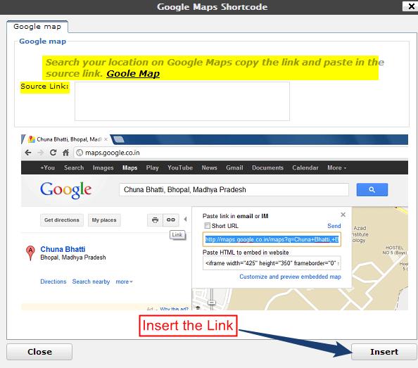 Link-of-Google-map