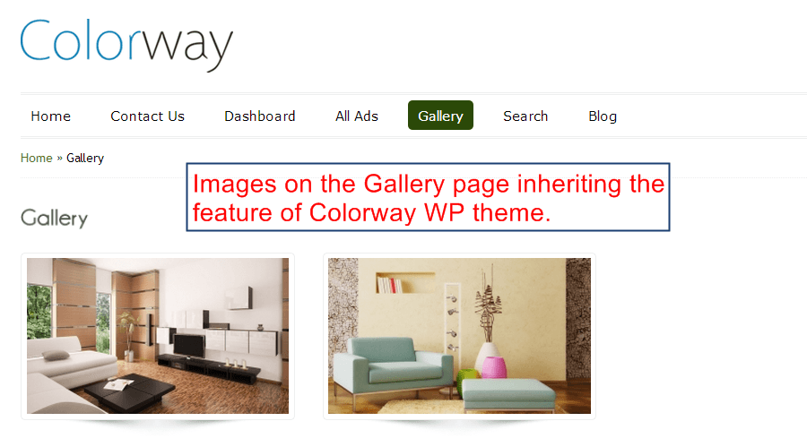 ColorWay gallery Page Theme