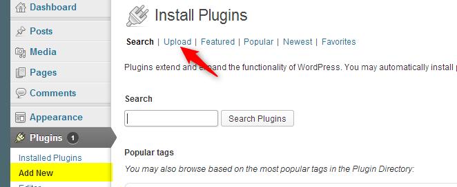 to upload plugin