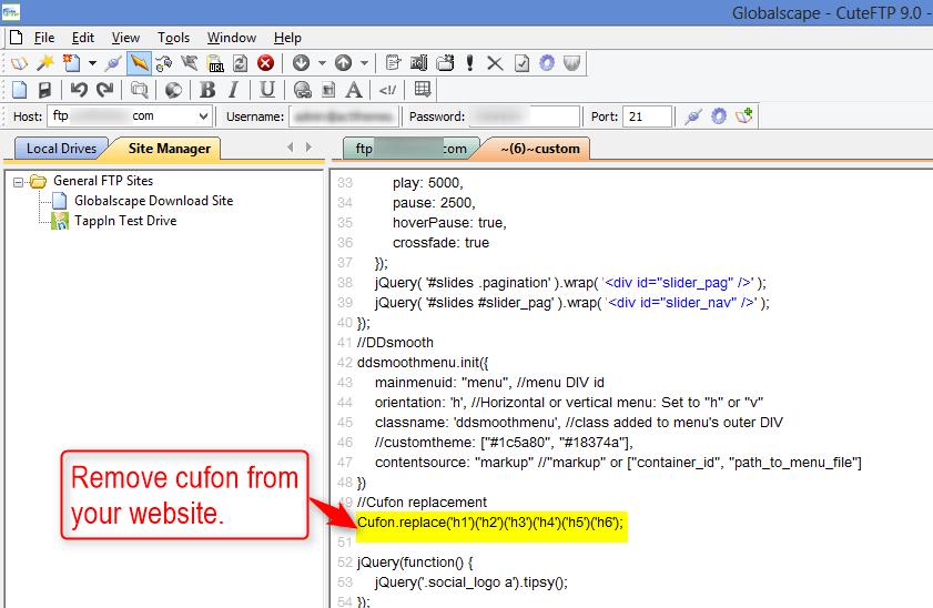 cufon code