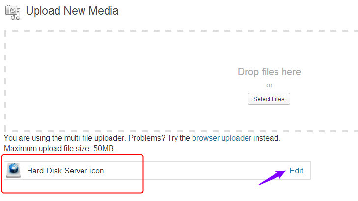 Infobar upload media window