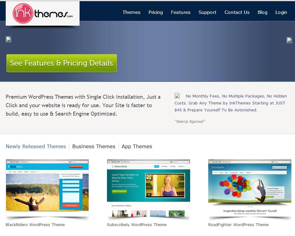 inkthemes webpage