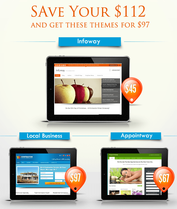 3 wordpress themes