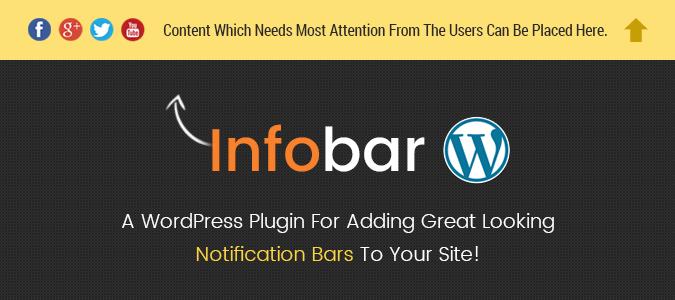 How to use Infobar Notification WordPress Plugin