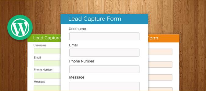 Lead Capture WordPress Plugin [Free Install]