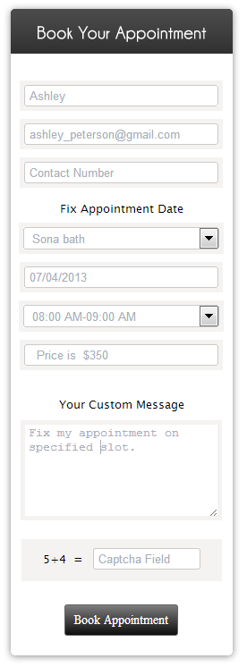 appointment form image