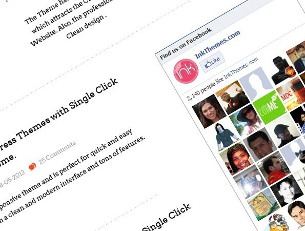 facebook plugin inserted in the theme