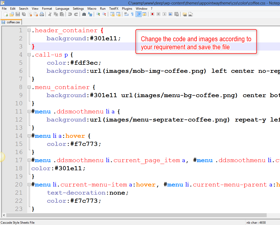 modifying the code