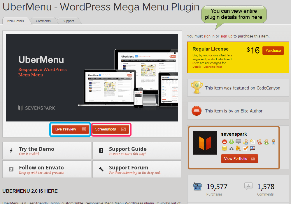 codecanyon plugin detail
