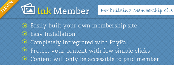 InkMember plugin Key features