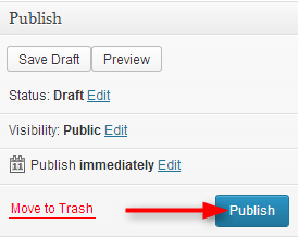 click on publish