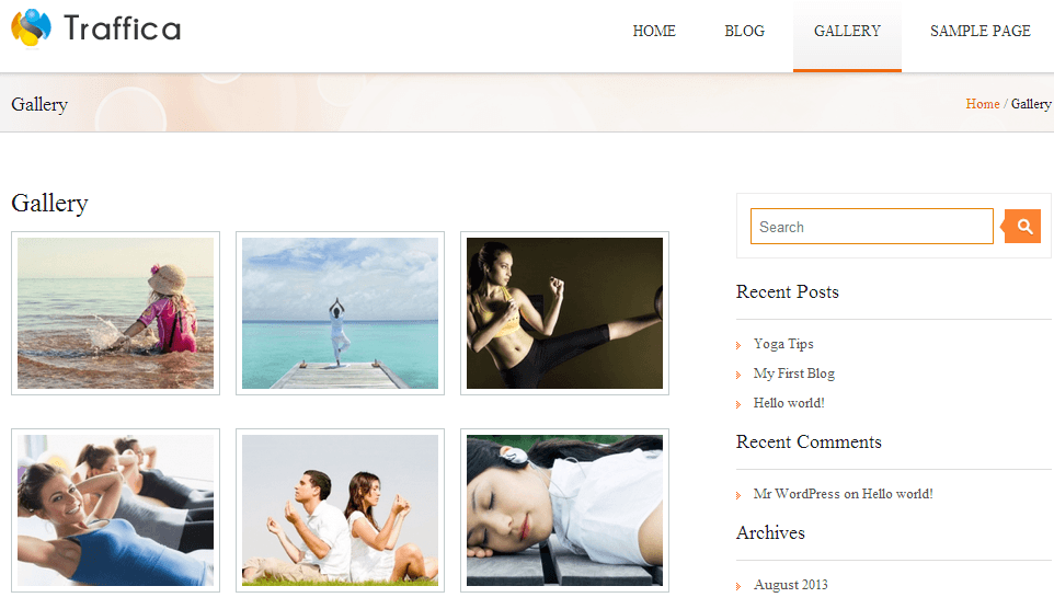 gallery page view