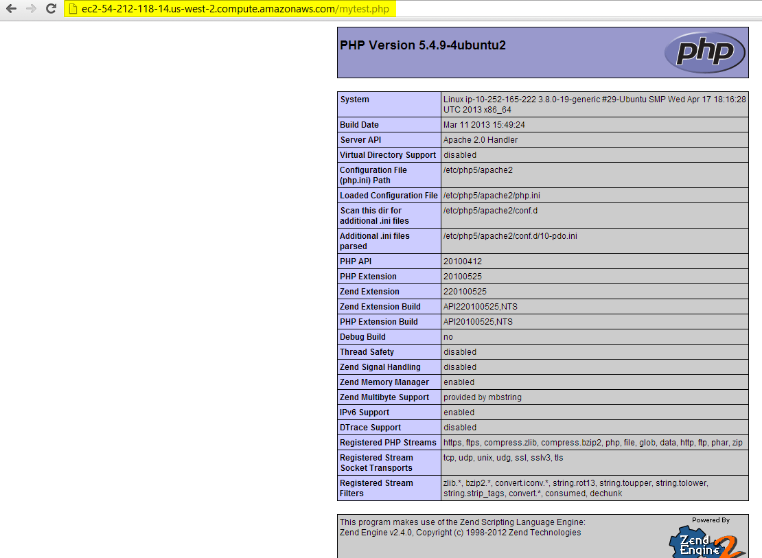 run mytest.php file