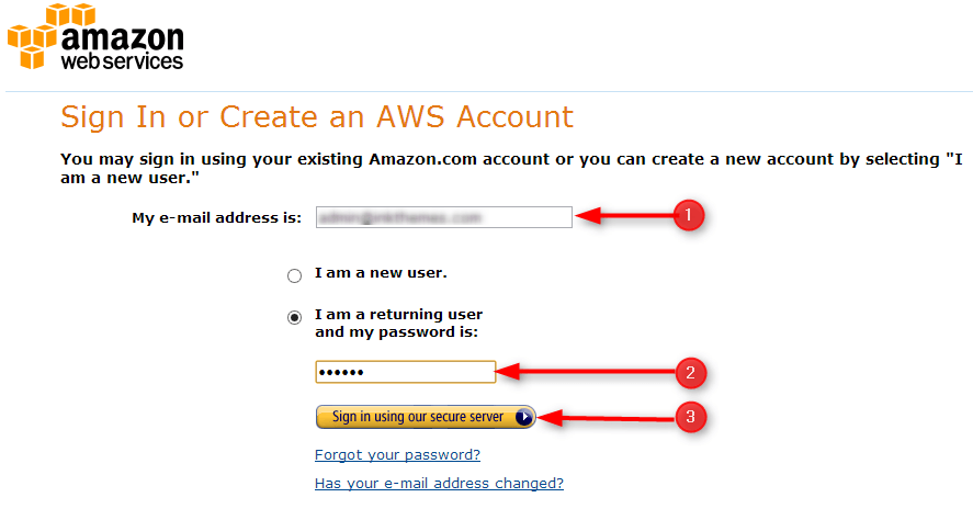 login into Amazon account
