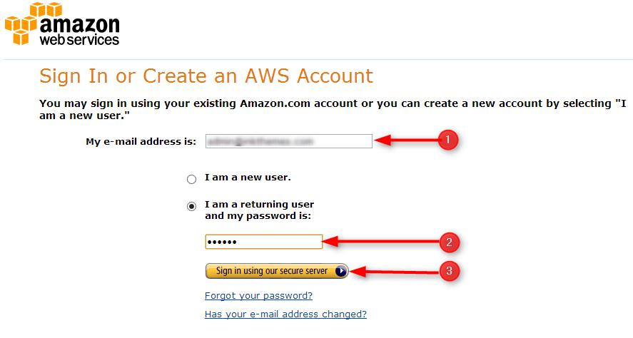 login into Amazon account