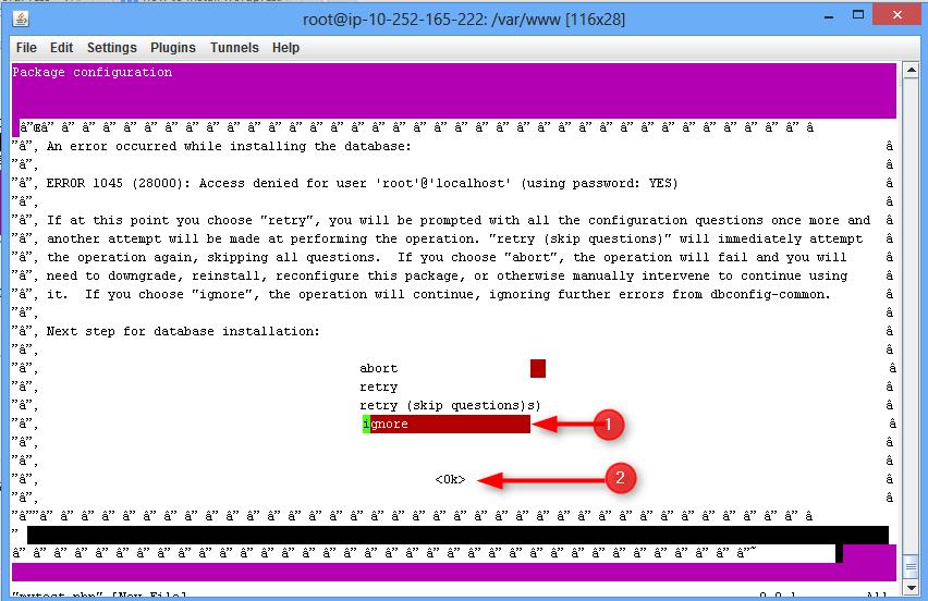 step to ignore error