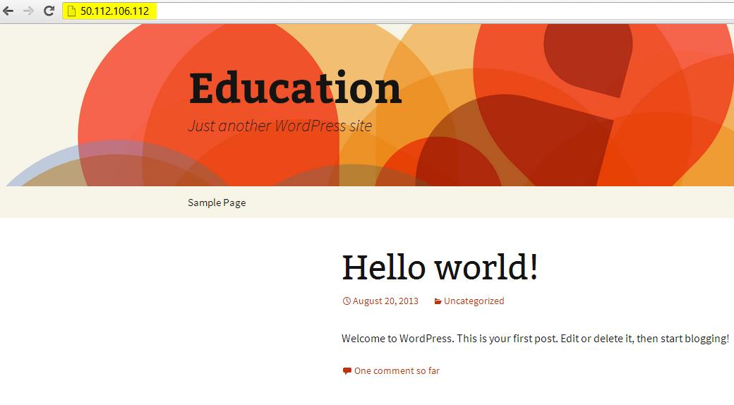 step to execute WordPress site.