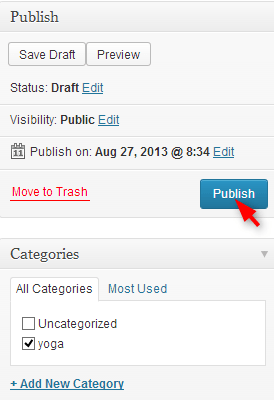step to publish post