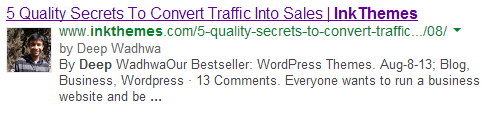 Authorship on Google