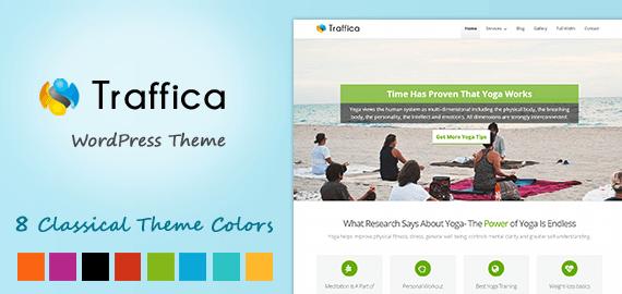 Traffica – Yoga Style WordPress Theme