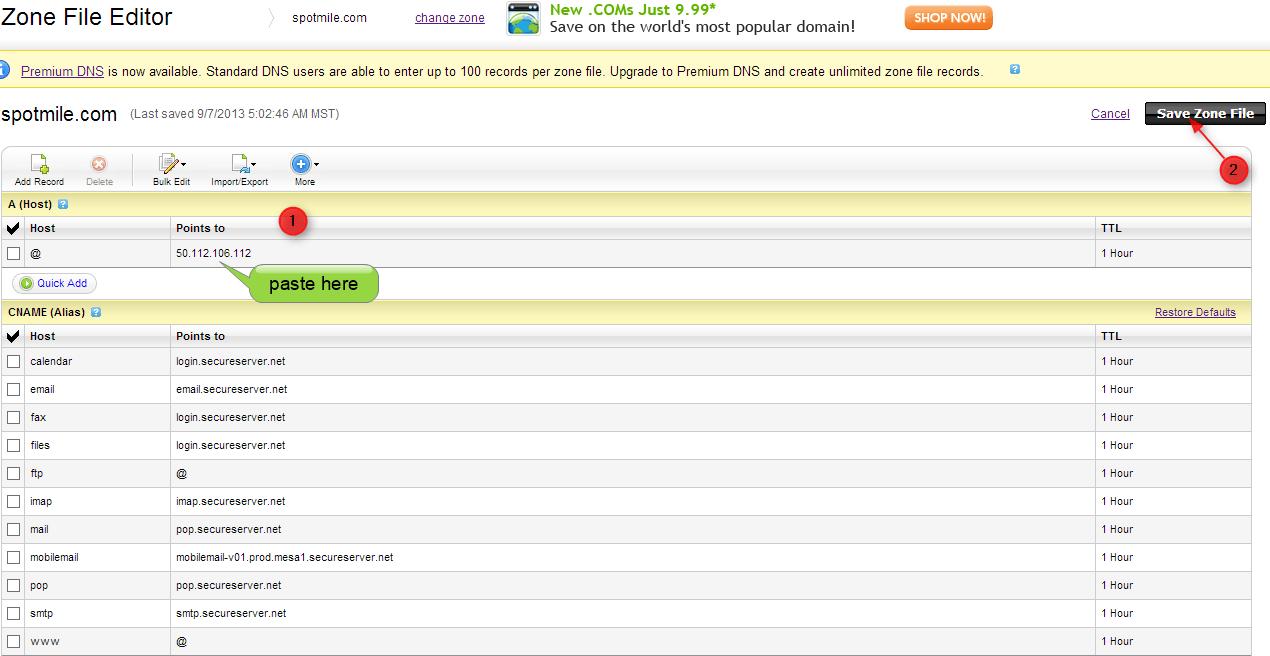 step to paste ip address