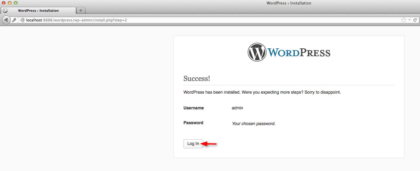get login in WordPress site