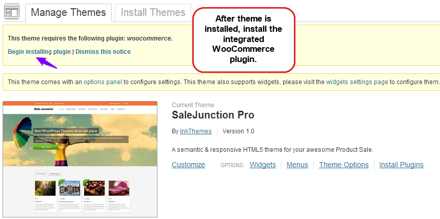 install WooCommerce plugin on SaleJunction