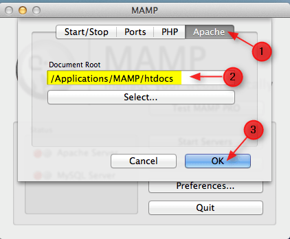 select document root