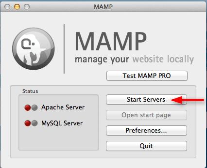 click on start servers